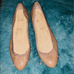 Authentic Christian louboutin well loved Flats